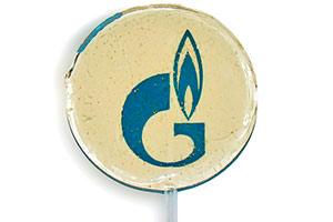 Леденцы-спирали на палочке Газпром