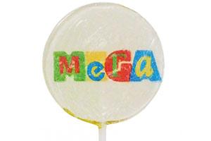 Леденец на палочке с логотипом МЕГА