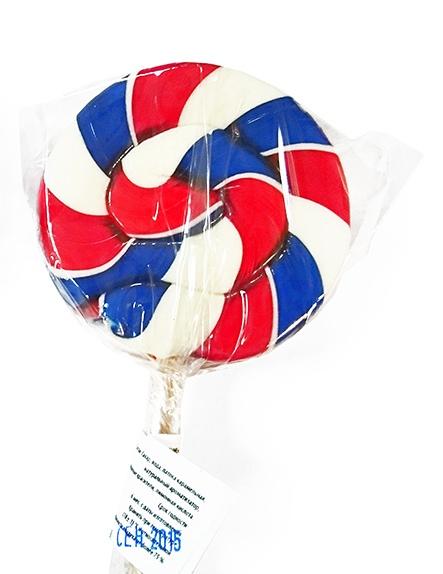 Корпоративный подарок - леденец-спираль многоцветный